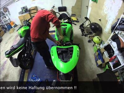 Motorrad Kawasaki ZX636C Heckverkleidung Montage Zeitraffer DIY HowTo Tutorial
