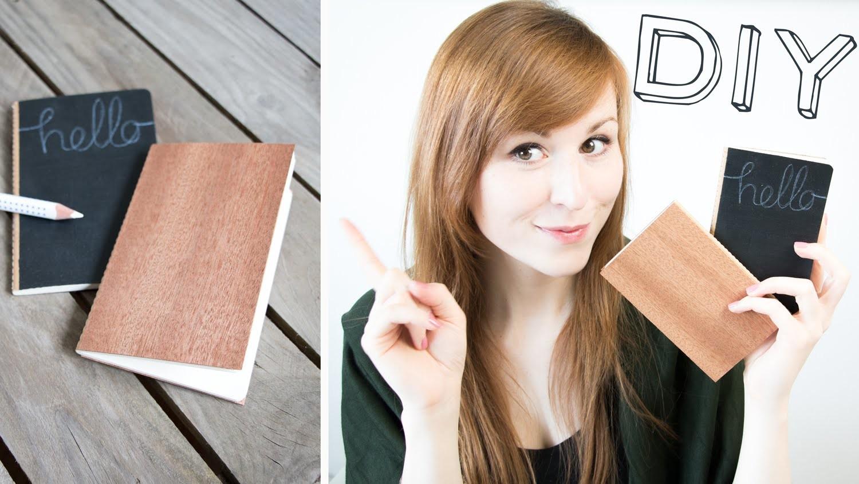 Quick DIY - Notizbücher mit Holz- & Tafeleinband