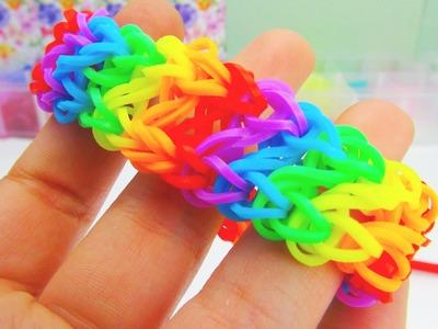 Rainbow Loom Infinity Bracelet. Armband Infinity Loom mit GABEL Anleitung | deutsch