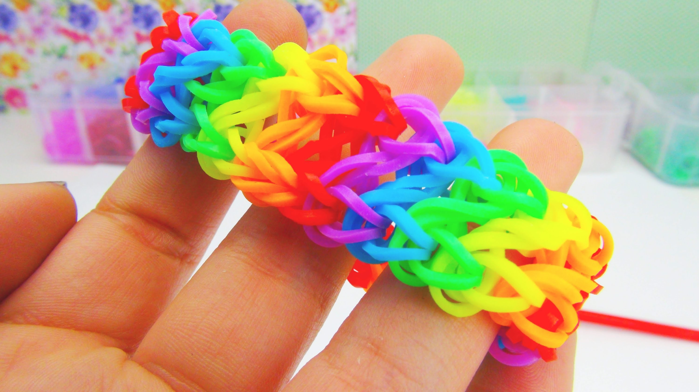 Rainbow Loom Infinity Bracelet. Armband Infinity Loom mit GABEL Anleitung   deutsch