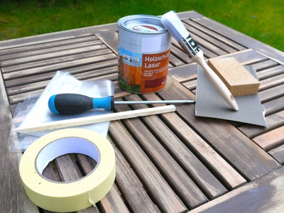 Gartenmöbel selbst lackieren -  Wood furniture cancel