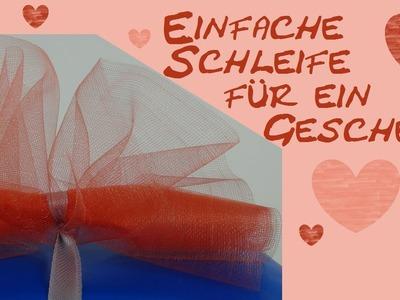 Geschenkschleife DIY. schleife für Geschenke basteln Anleitung (einfach) | deutsch