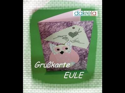 Karte basteln - Alles Liebe mit Eule card#6.2014