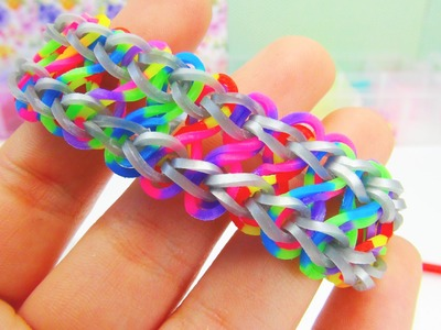 Loom Bands Monstertail Infinity Armband Doppelt. Bracelet. Double Infinity Rainbow Loom | deutsch