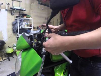 Motorrad Kawasaki ER6N Wechsel Kupplungshebel Armatur DIY HowTo Tutorial