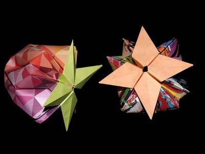 Origami Erdbeere - Faltanleitung [HD.DE] (Live erklärt)