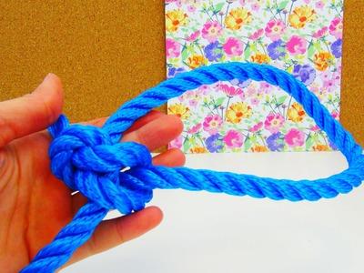 Palstek Knoten Tutorial. Palstek Seemannsknoten ganz einfach lernen. Knoten Anleitung