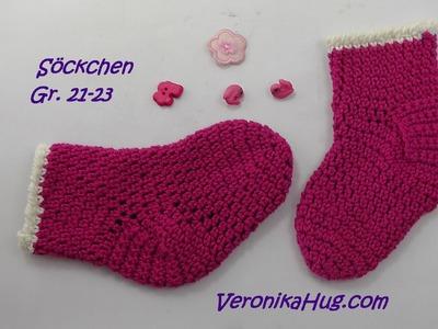 Häkeln - Söckchen - Babysöckchen - Socken - Veronika Hug