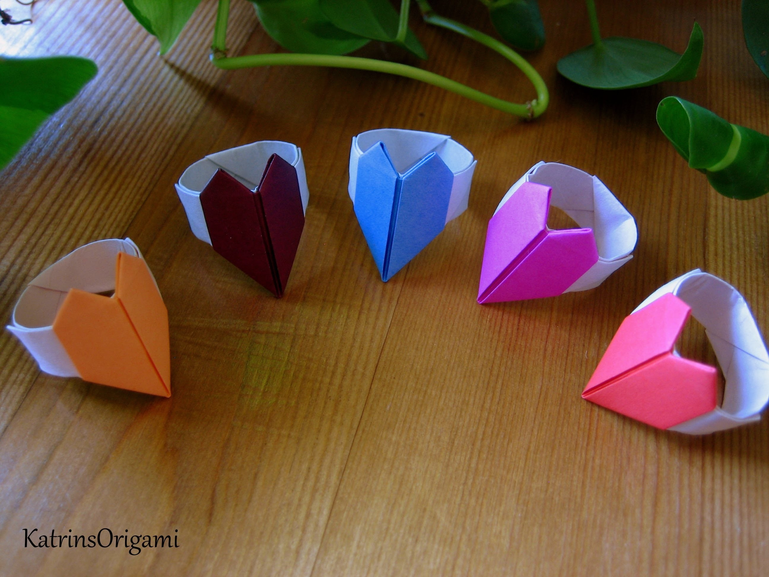 Origami ♥ Heart Ring - photo#7