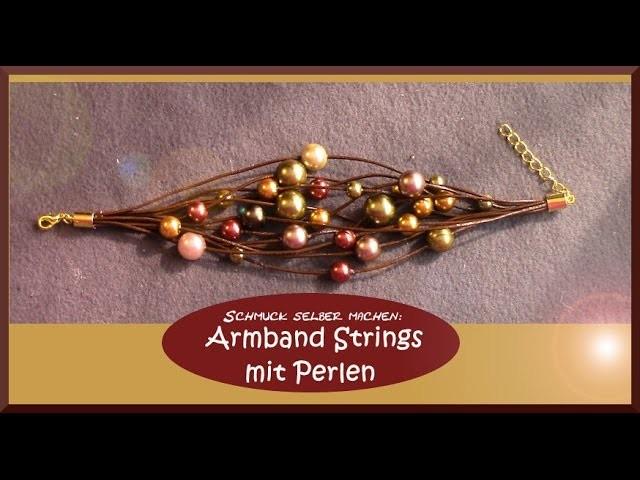 Schmuck Selber Machen Armband Strings Mit Perlen