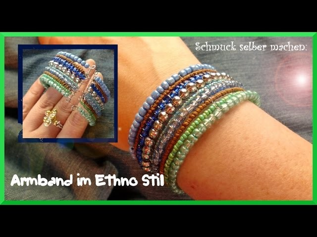 Schmuck selber machen: Armband im Ethno Stil