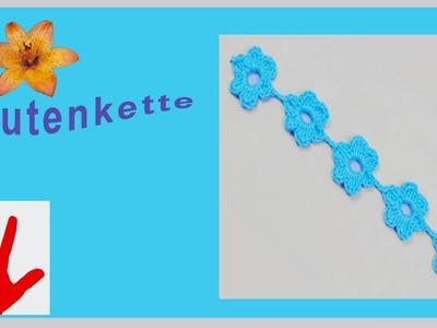 Häkeln - Linkshänder - Blumen - Blütenkette - Häkelblume