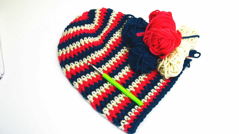 Häkeln Longbeanie Mütze Beanie Ringelmüzte Pink Weiß Blau Diy Muster