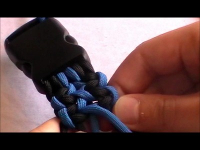 How To: Wide bracelet 2 color (Hundehalsband)