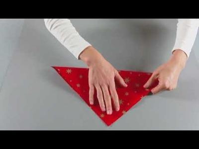 KreativPLUS Itzehoe Faltanleitung: Sternwindlicht aus Papier basteln