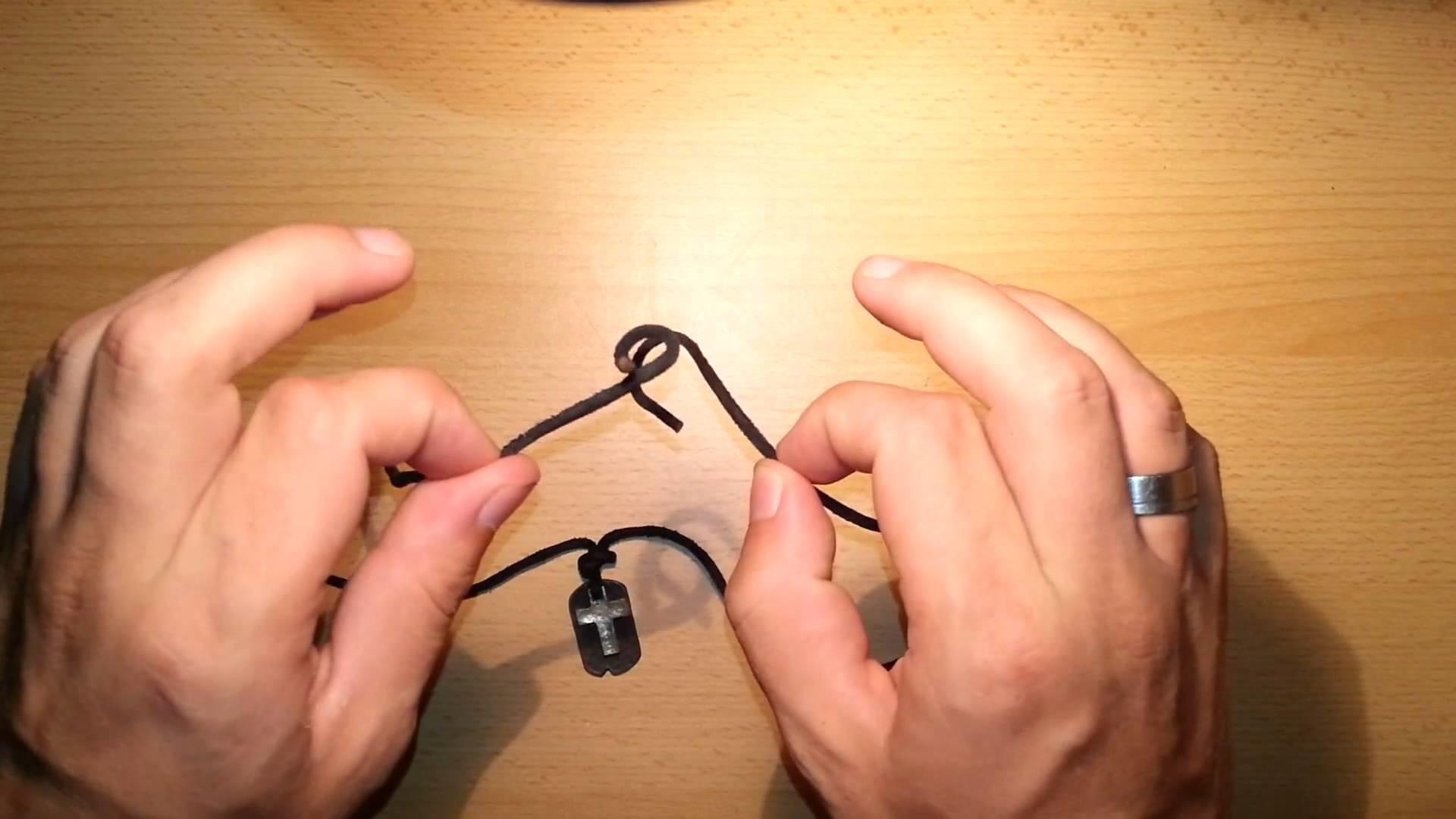 Lederband knoten - Tipps für Halsketten