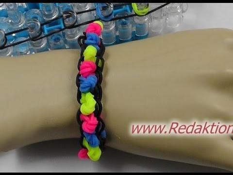 Loom Bands mit Rainbow-Loom - Armband - Deutsch - E