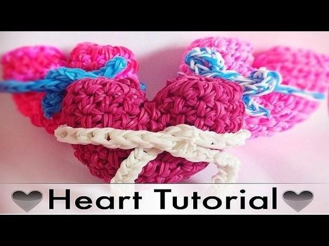Rainbow Loom 3D Herz. Heart