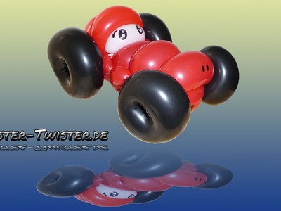 Balloon car, Ballon Auto, Modellierballon Ballonfiguren