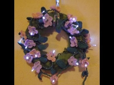 Blumenranke, Blüte häkeln