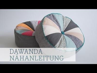 DaWanda Nähanleitung: Sitzkissen nähen