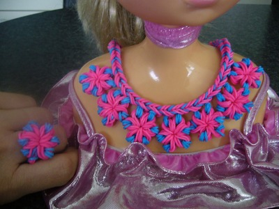 DIY Loom Bands Rainbow Halskette, Collier, Neclace, Ketting,  Anleitung
