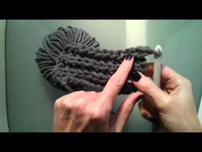 DIY Loop Häkelschal - Muster ähnlich wie Patentmuster