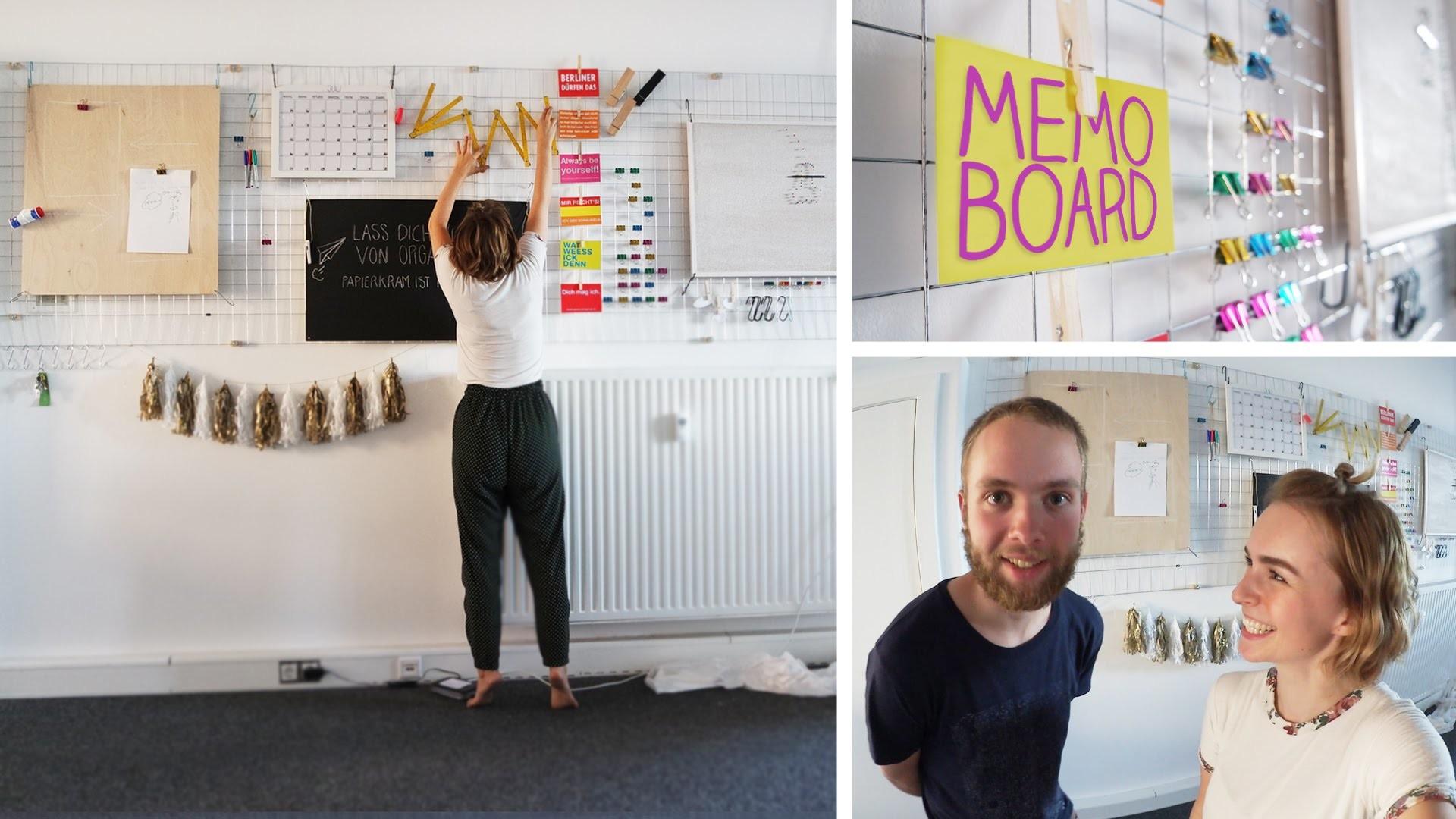 DIY schwarzes Brett in bunt! großes Memo Board, Pinnwand, Moodboard - alive4fashion, Mapamundi