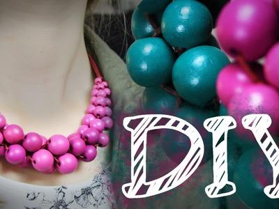 DIY Statement Kette aus großen Perlen - Hingucker - super easy