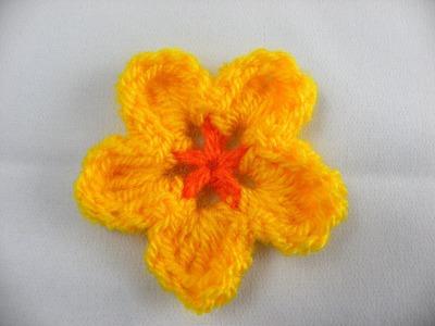 Häkeln - Häkelblume 2-farbig einfach