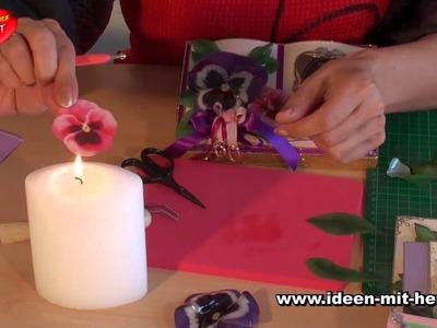 Ideen mit Herz - 3-D Folienzauber - Porzellan-Effekt