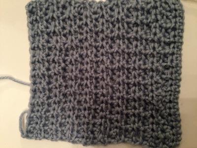 Ihr 34. Quadrat für ihre Patchwork Decke Häkeln lernen sie das Strukturmuster