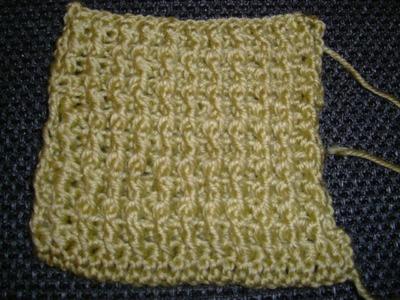 Ihr 6. Quadrat für ihre Patchwork Decke Häkeln ( Reliefstäbchen vorne und hinten)