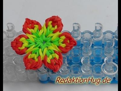 Loom Bands mit Rainbow Loom Anleitung Deutsch Blume I - Veronika Hug