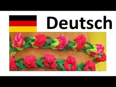 Loom Bandz Anleitung Deutsch. Rainbow Loom Deutsch Rose Bracelet Armband