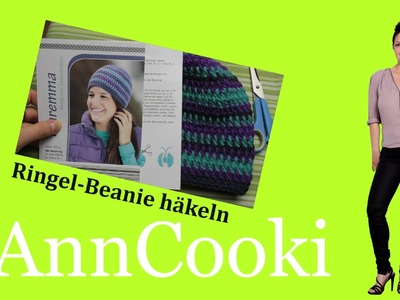 Mütze häkeln - Ringel-Beanie häkeln [handmade] - ausführlich für Anfänger