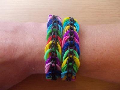 Rainbow Loom Bands Anleitung deutsch Spiralen Armband - Rubber Bandz bracelet tutorial