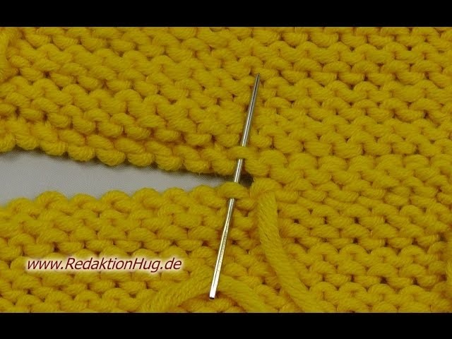 Stricken - Maschenstich bei linken Maschen - Zusammennähen