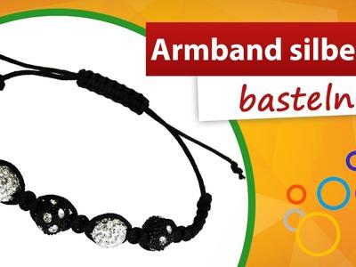 Armband basteln silbern. schwarz | trendmarkt24 Bastelbedarf - Do it yourself