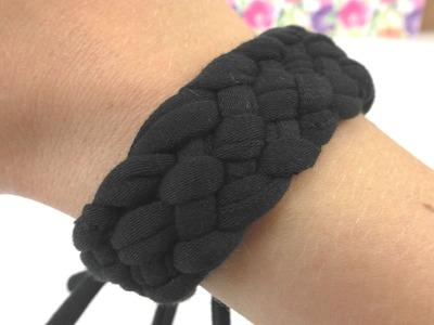 Armband selber machen. eigenes Armband aus Stoffresten basteln. DIY Anleitung