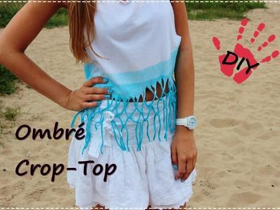 DIY- Ombré Crop-Top selbermachen- Fransentop mit Farbverlauf - Fashionspray I Inspirationen