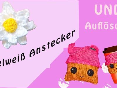 Häkeln Edelweiß Anstecker - Oktoberfest - UND Auflösung des Gewinnspiels