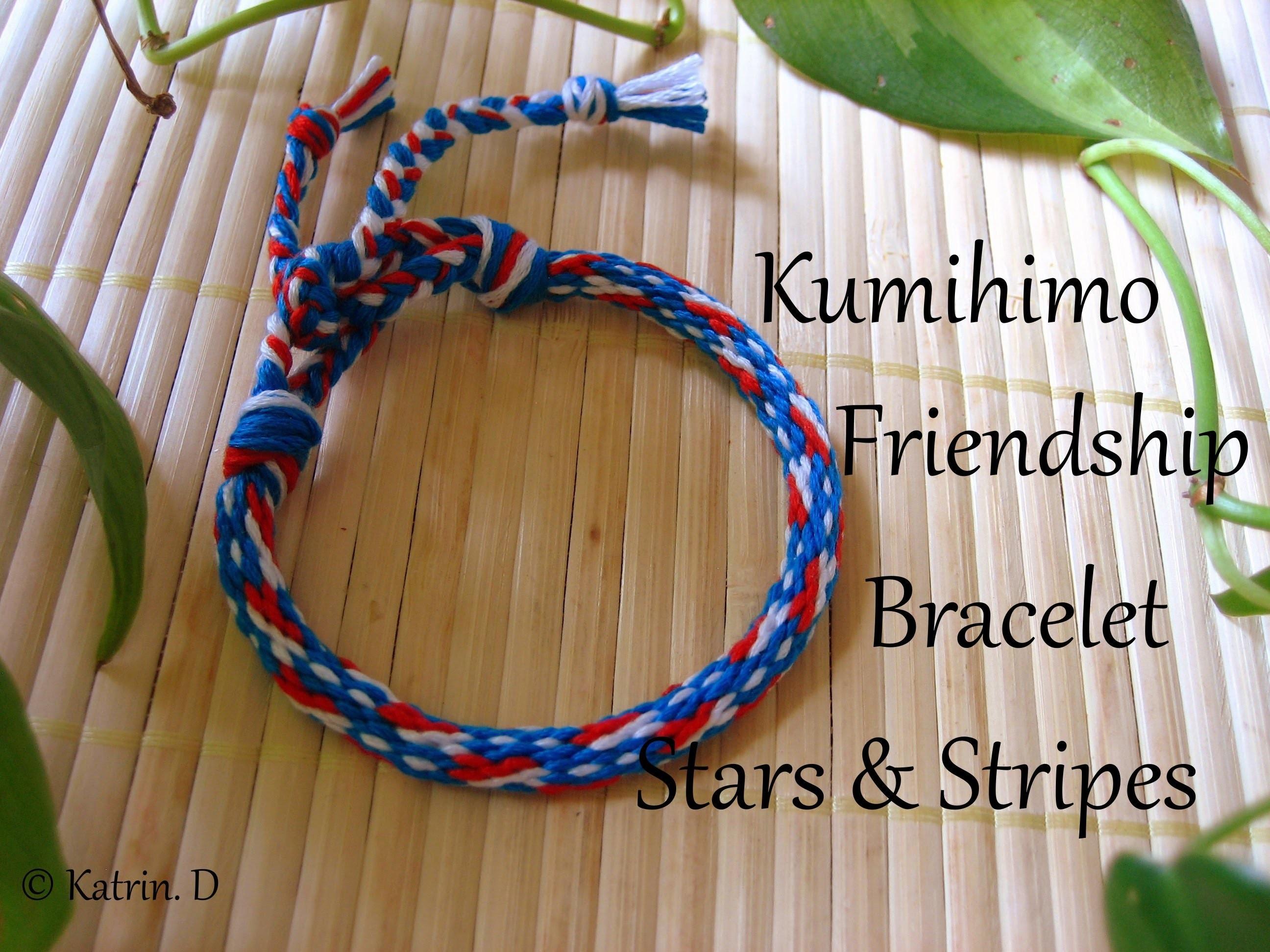 Kumihimo Friendship Bracelet Stars & Stripes
