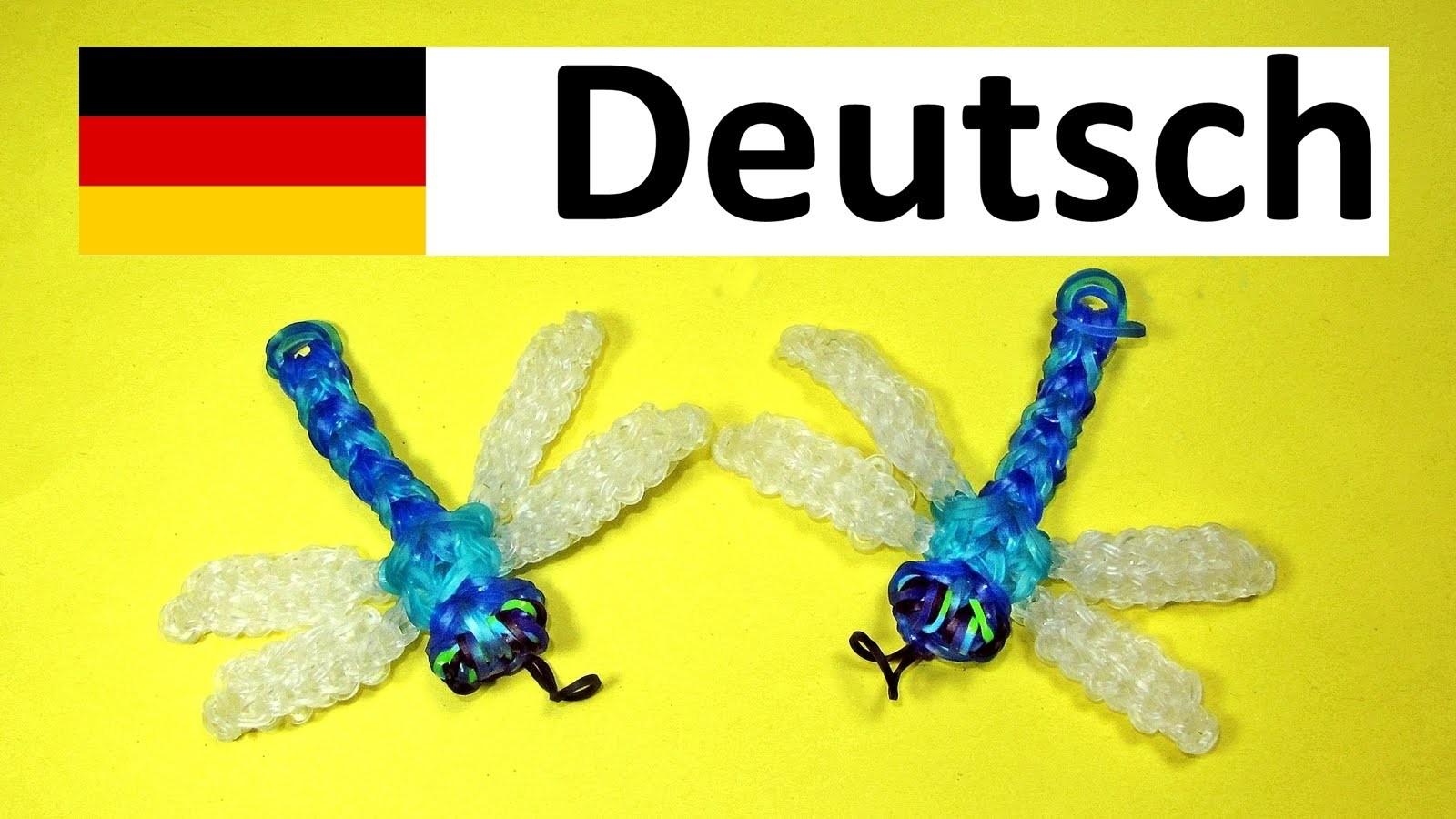 Loom Bandz Anleitung Deutsch Libelle ||Rainbow Loom Deutsch Tiere