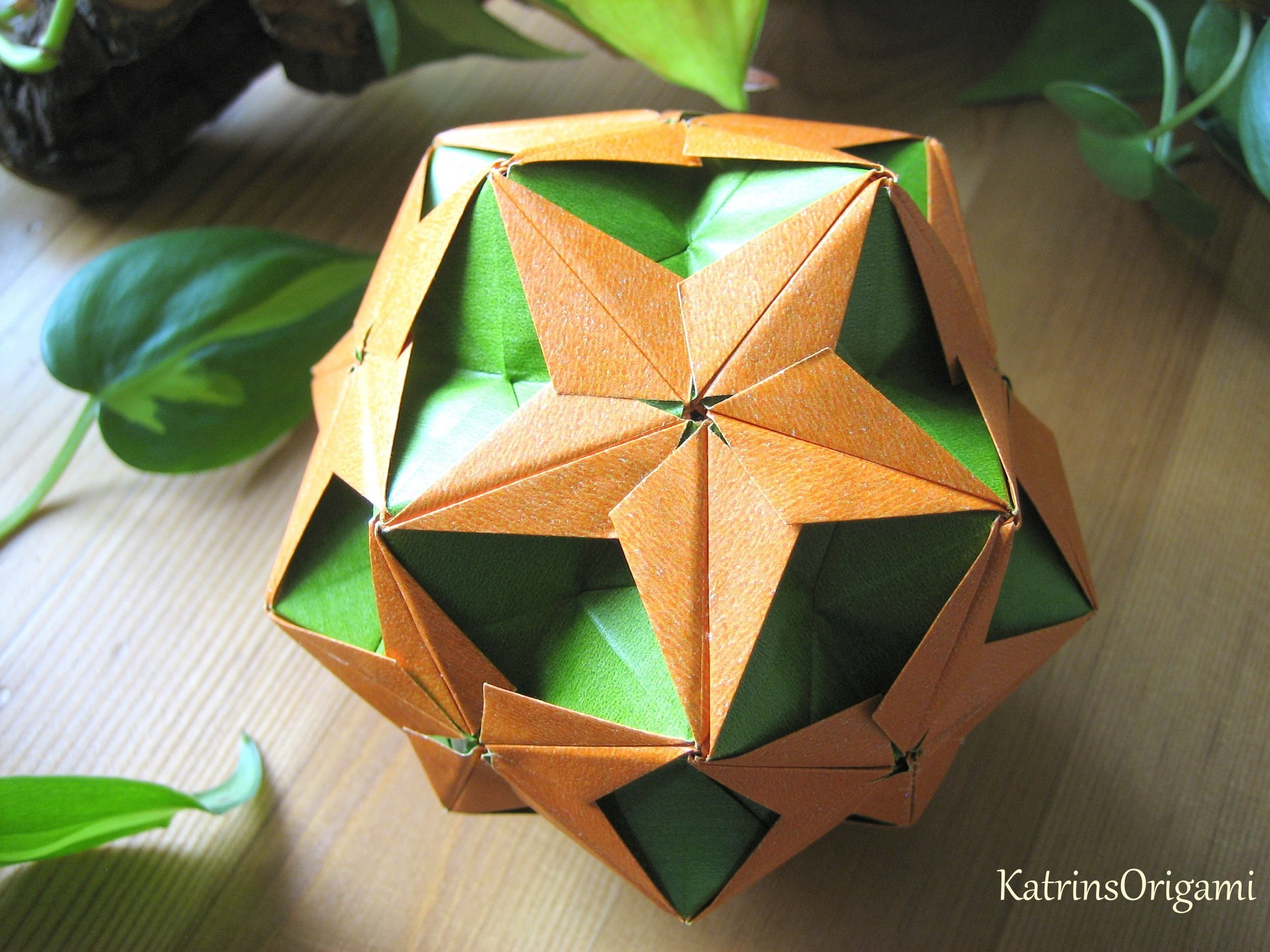 Origami origami chamomile star kusudama weihnachtsdeko - Origami weihnachtsdeko ...