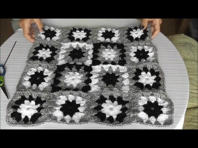 patchwork h kelkissen mehrfarbiges muster quadrate zusammenh keln teil 2 3. Black Bedroom Furniture Sets. Home Design Ideas