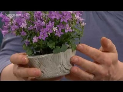 Pflanzenkübel und Windlichter aus Beton   Kaffee oder Tee?