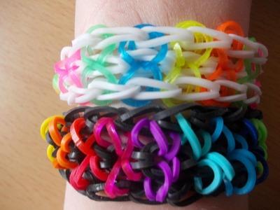 Rainbow Loom Bands Anleitung deutsch - dreifaches Schlaufen - Armband - Bracelet Rubber Bandz