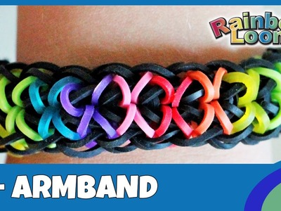 Rainbow Loom X-Armband - deutsche Anleitung