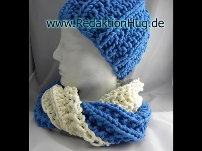 Stricken - Loop falsches Patentmuster - hatnut cool
